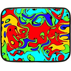 Abstract Mini Fleece Blanket (Two Sided)