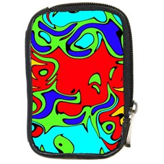 Abstract Compact Camera Leather Case