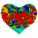 Abstract 19  Premium Heart Shape Cushion Front