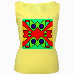 Abstract Womens  Tank Top (Yellow)