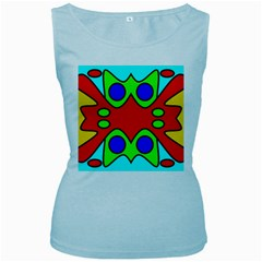 Abstract Womens  Tank Top (Baby Blue)
