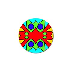 Abstract Golf Ball Marker 4 Pack