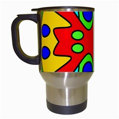 Abstract Travel Mug (white)