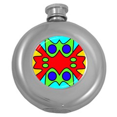 Abstract Hip Flask (Round)