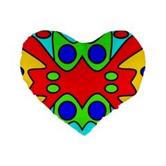 Abstract 16  Premium Heart Shape Cushion