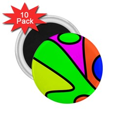 Abstract 2.25  Button Magnet (10 pack)