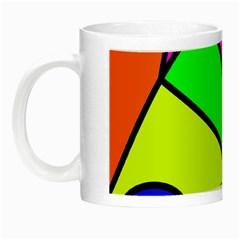 Abstract Glow in the Dark Mug