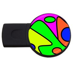 Abstract 4GB USB Flash Drive (Round)