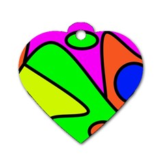 Abstract Dog Tag Heart (one Sided)