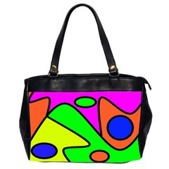 Abstract Oversize Office Handbag (Two Sides)