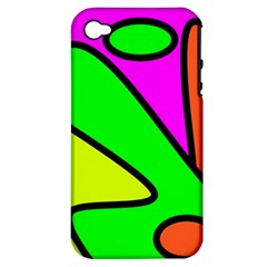 Abstract Apple Iphone 4/4s Hardshell Case (pc+silicone)