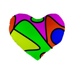 Abstract 16  Premium Heart Shape Cushion
