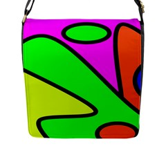 Abstract Flap Closure Messenger Bag (large)