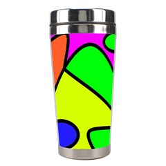 Abstract Stainless Steel Travel Tumbler