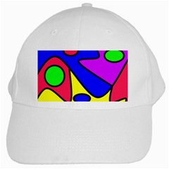 Abstract White Baseball Cap