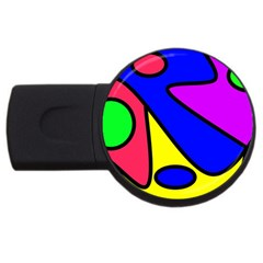 Abstract 1GB USB Flash Drive (Round)