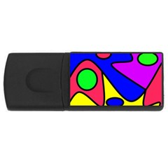 Abstract 4GB USB Flash Drive (Rectangle)