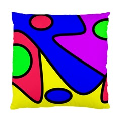 Abstract Cushion Case (single Sided)