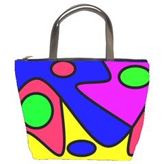 Abstract Bucket Handbag