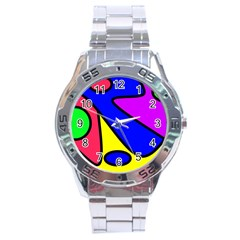 Abstract Stainless Steel Watch