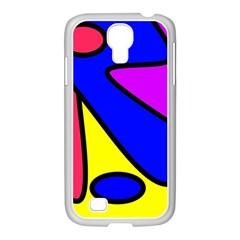 Abstract Samsung GALAXY S4 I9500/ I9505 Case (White)