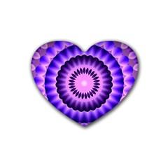 Mandala Drink Coasters 4 Pack (Heart)