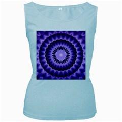 Mandala Womens  Tank Top (Baby Blue)