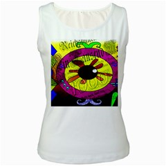 Abstract Womens  Tank Top (White)