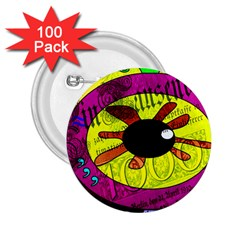 Abstract 2.25  Button (100 pack)