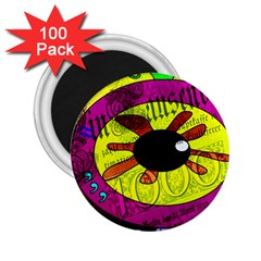 Abstract 2 25  Button Magnet (100 Pack)