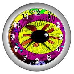 Abstract Wall Clock (silver)
