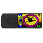 Abstract 4GB USB Flash Drive (Rectangle) Front