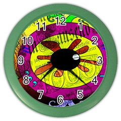 Abstract Wall Clock (Color)