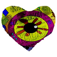 Abstract 19  Premium Heart Shape Cushion