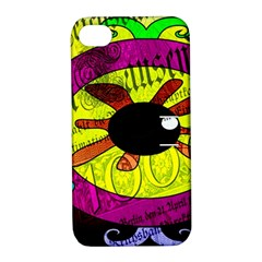 Abstract Apple iPhone 4/4S Hardshell Case with Stand