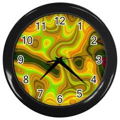 Abstract Wall Clock (black)