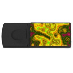 Abstract 1GB USB Flash Drive (Rectangle)
