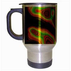 Abstract Travel Mug (Silver Gray)