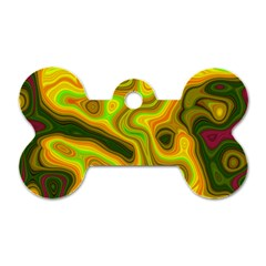 Abstract Dog Tag Bone (Two Sided)