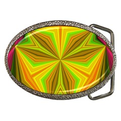 Abstract Belt Buckle (Oval)