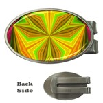 Abstract Money Clip (Oval) Front