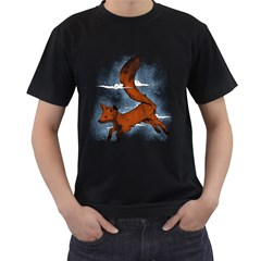 Riding The Great Red Fox Mens' Two Sided T Shirt (black)
