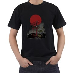 Good by samurai Mens' Two Sided T-shirt (Black)