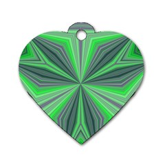 Abstract Dog Tag Heart (Two Sided)