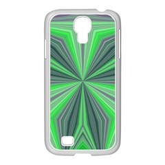 Abstract Samsung GALAXY S4 I9500/ I9505 Case (White)