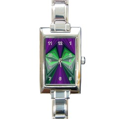 Abstract Rectangular Italian Charm Watch