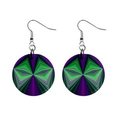 Abstract Mini Button Earrings