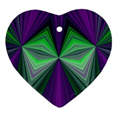 Abstract Heart Ornament (Two Sides)