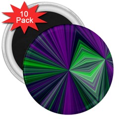 Abstract 3  Button Magnet (10 Pack)