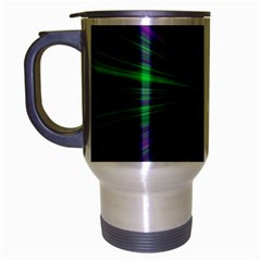Abstract Travel Mug (silver Gray)